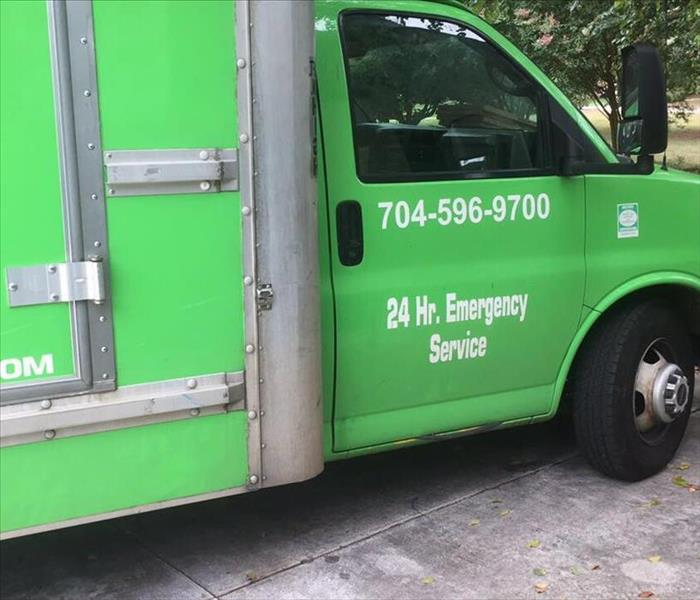 SERVPRO box truck with logo
