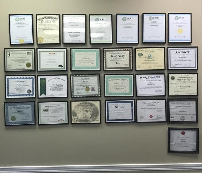 General Wall Of Fame-SERVPRO of North Central Mecklenburg County's Certifications